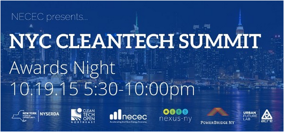 NYC CleanTech Summit night photo